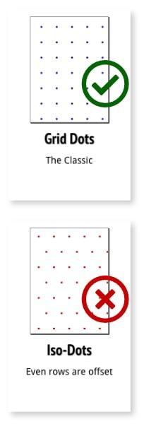 Square Grid vs Iso Dots